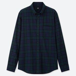 2/$50 ✨ Uniqlo Green and Navy Plaid Shirt